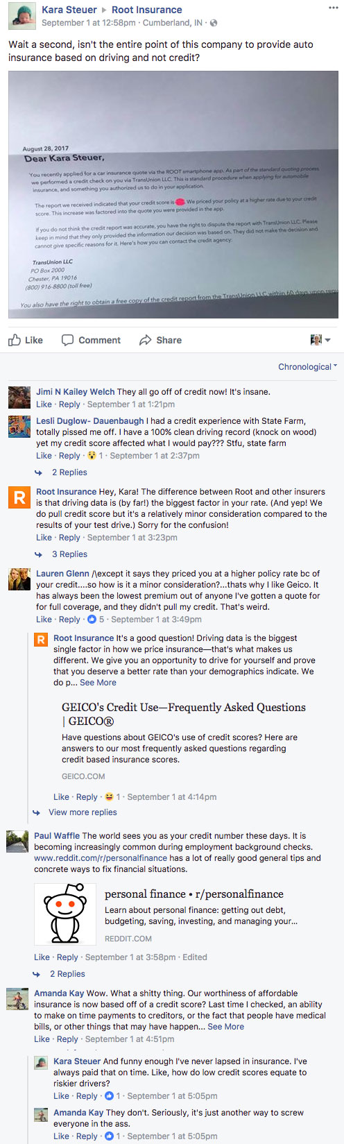 Kara Steuer Vs Root On Use Of Credit Scores To Price Premiums