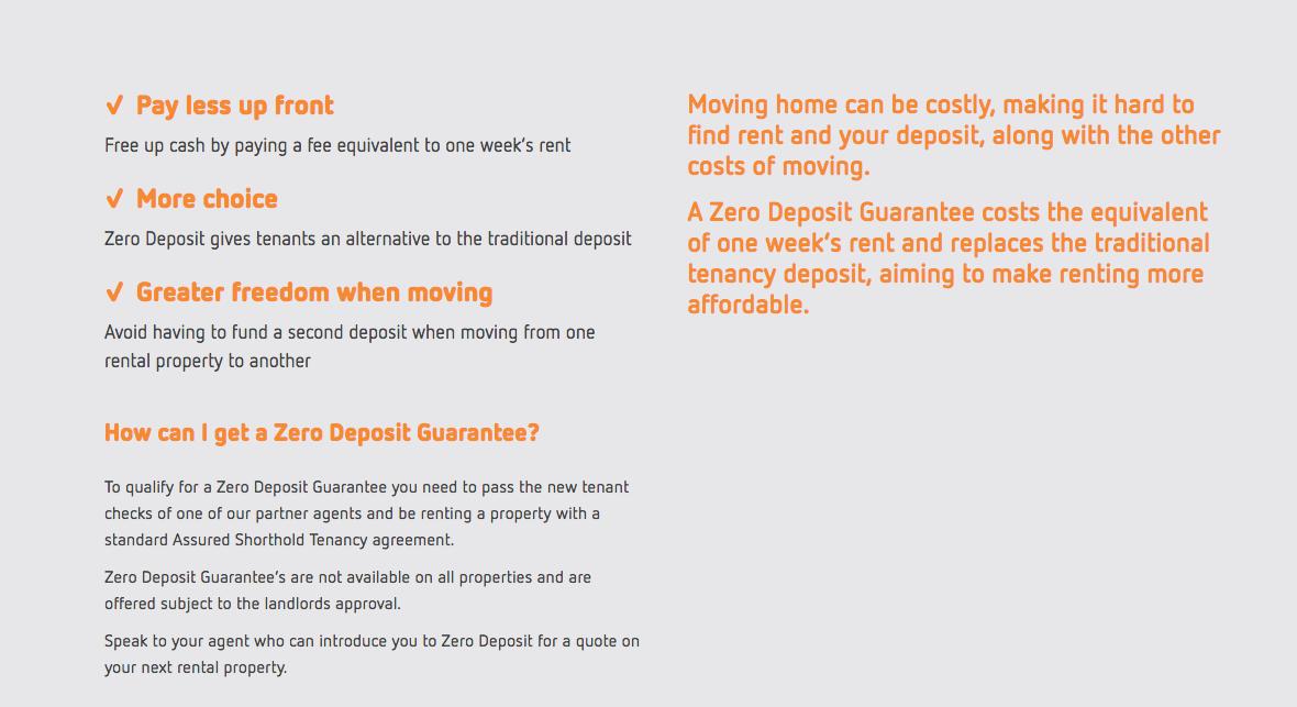 Zero Deposits Up