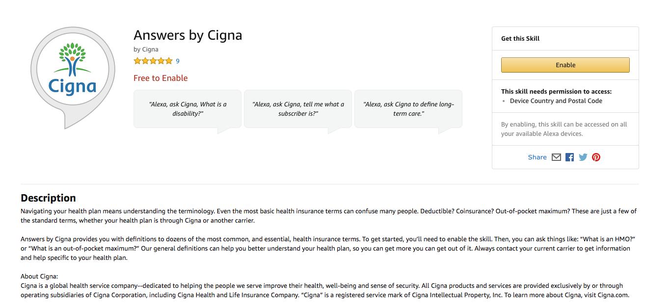 Cigna Launches Alexa Skill To Improve Health Literacy