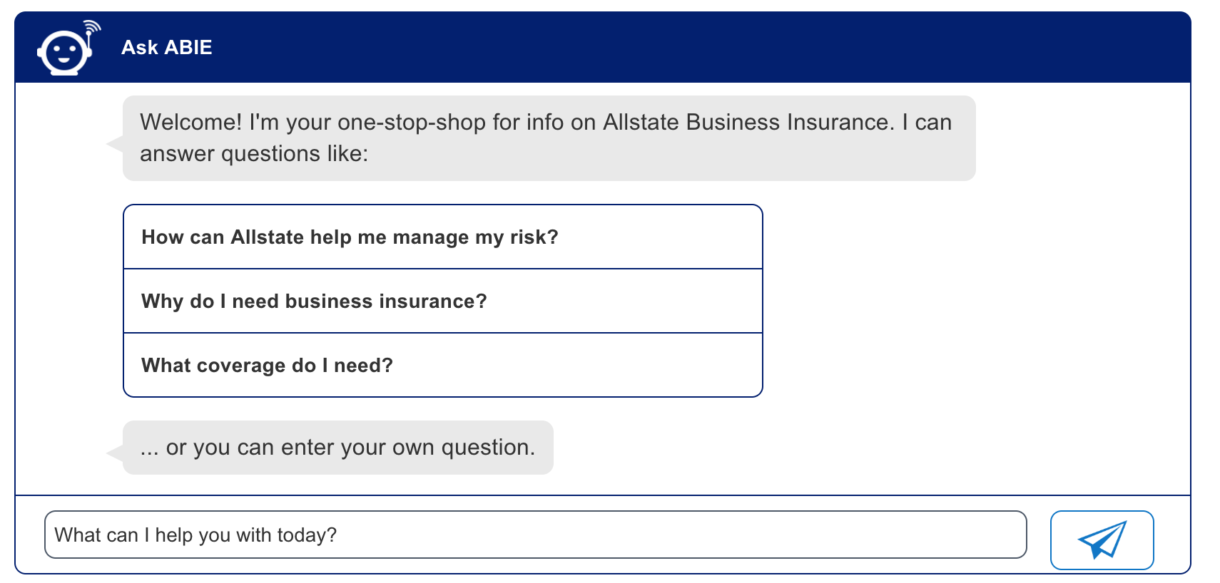 Allstate Adds Chatbot Capability To Small Business