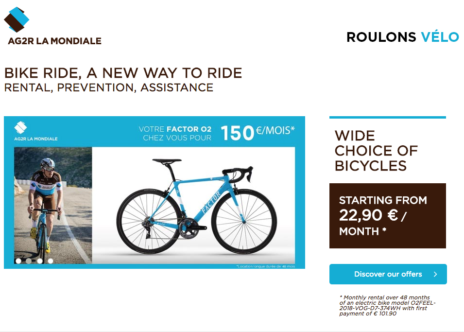 AG2R La Mondiale Launches Long-Term Bike Rental Program