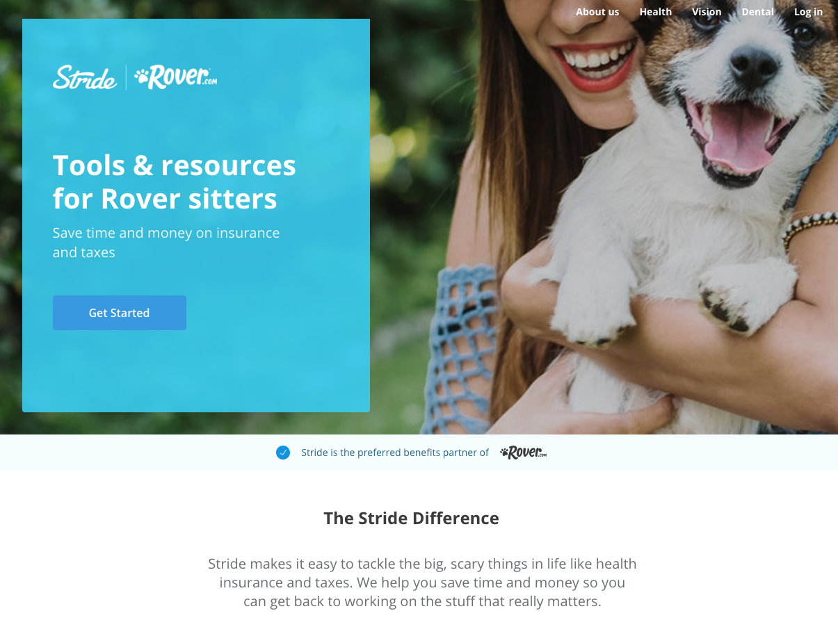 Stride Health Partners With Rover and Ethos Life