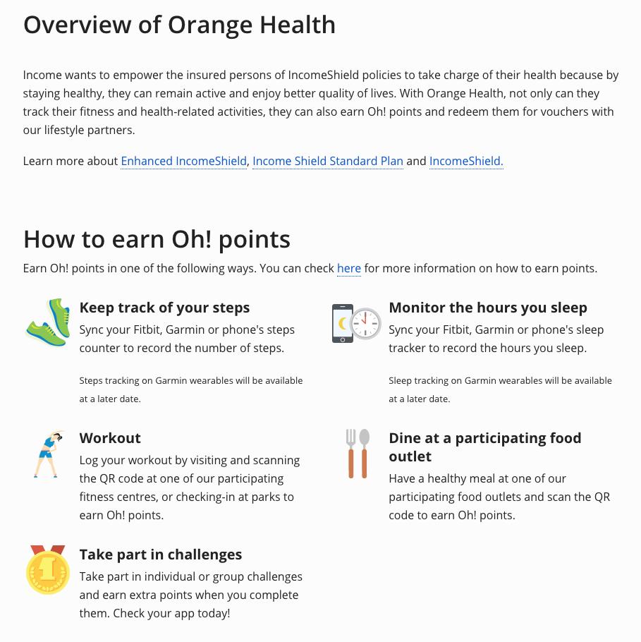 Income Introduces New Orange Health Program