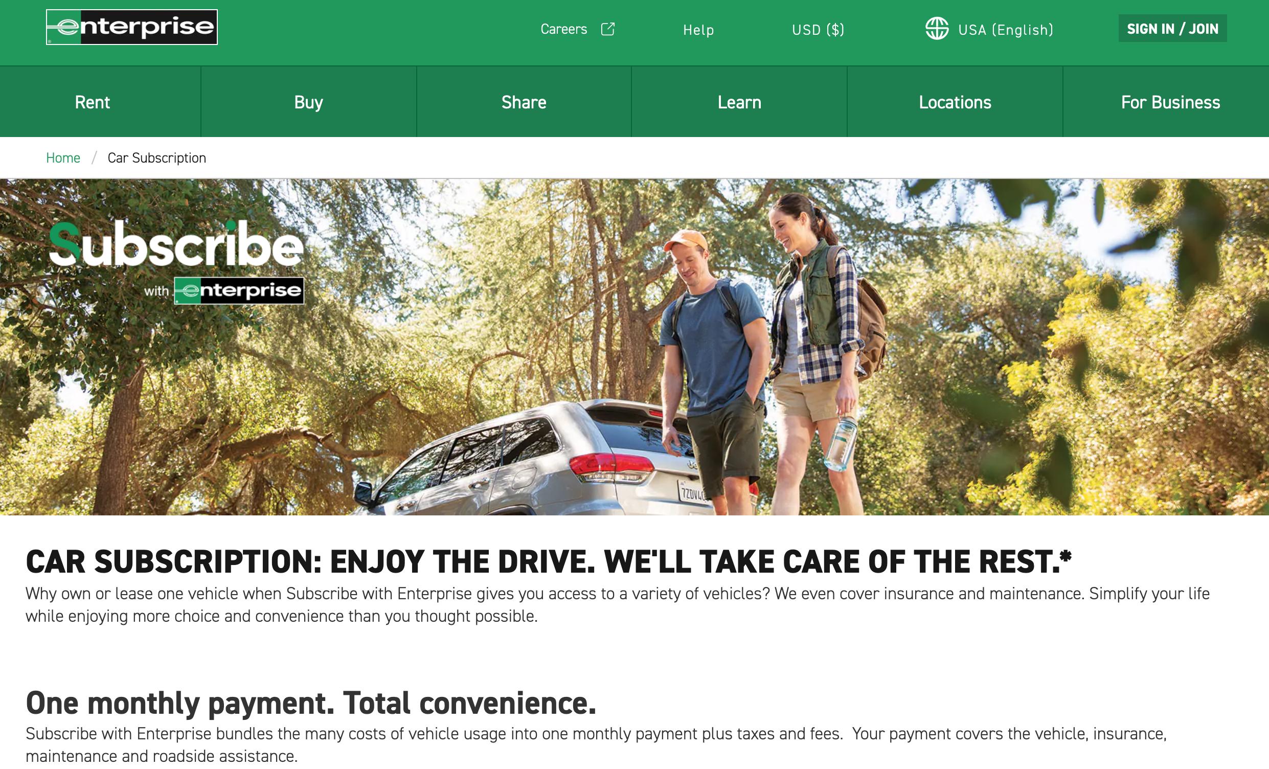 Enterprise Car Rental Accident Claims Department >> Enterprise Launches Car Subscription Service