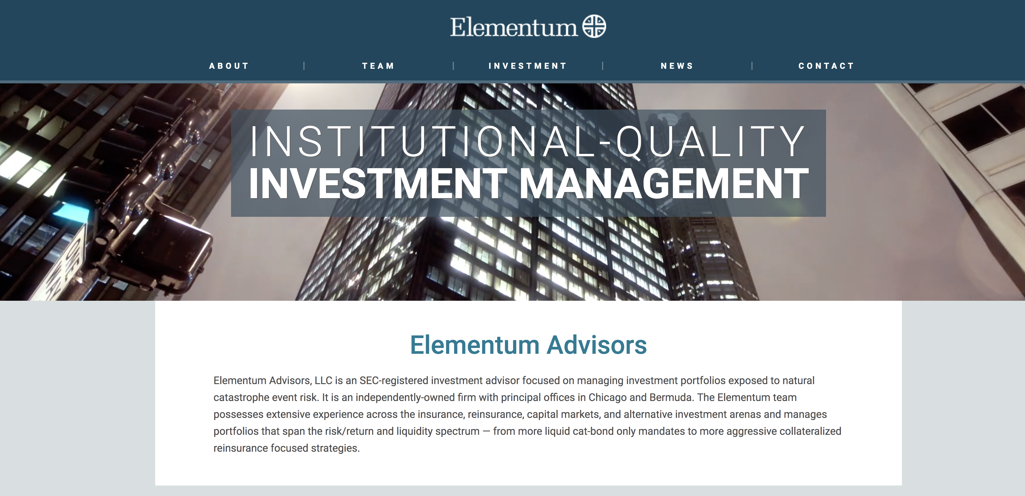 White Mountains Takes Minority Stake in Elementum Advisors