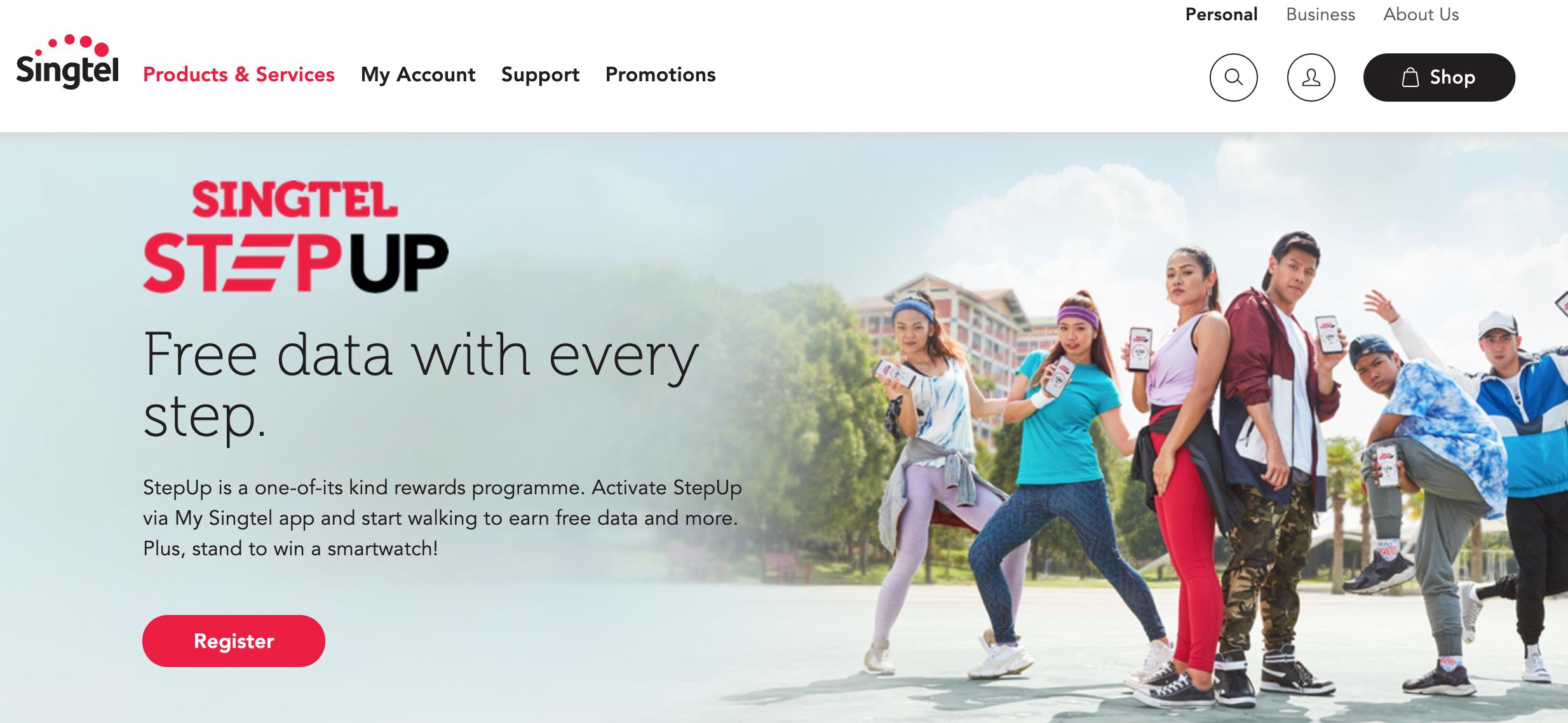 Singtel and AIA Introduce StepUp